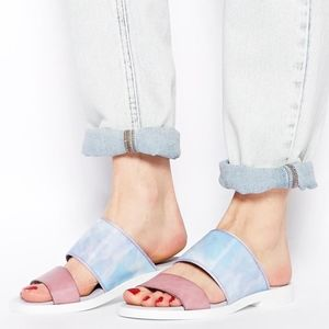 Miista Holographic Strap Slip on Sandal
